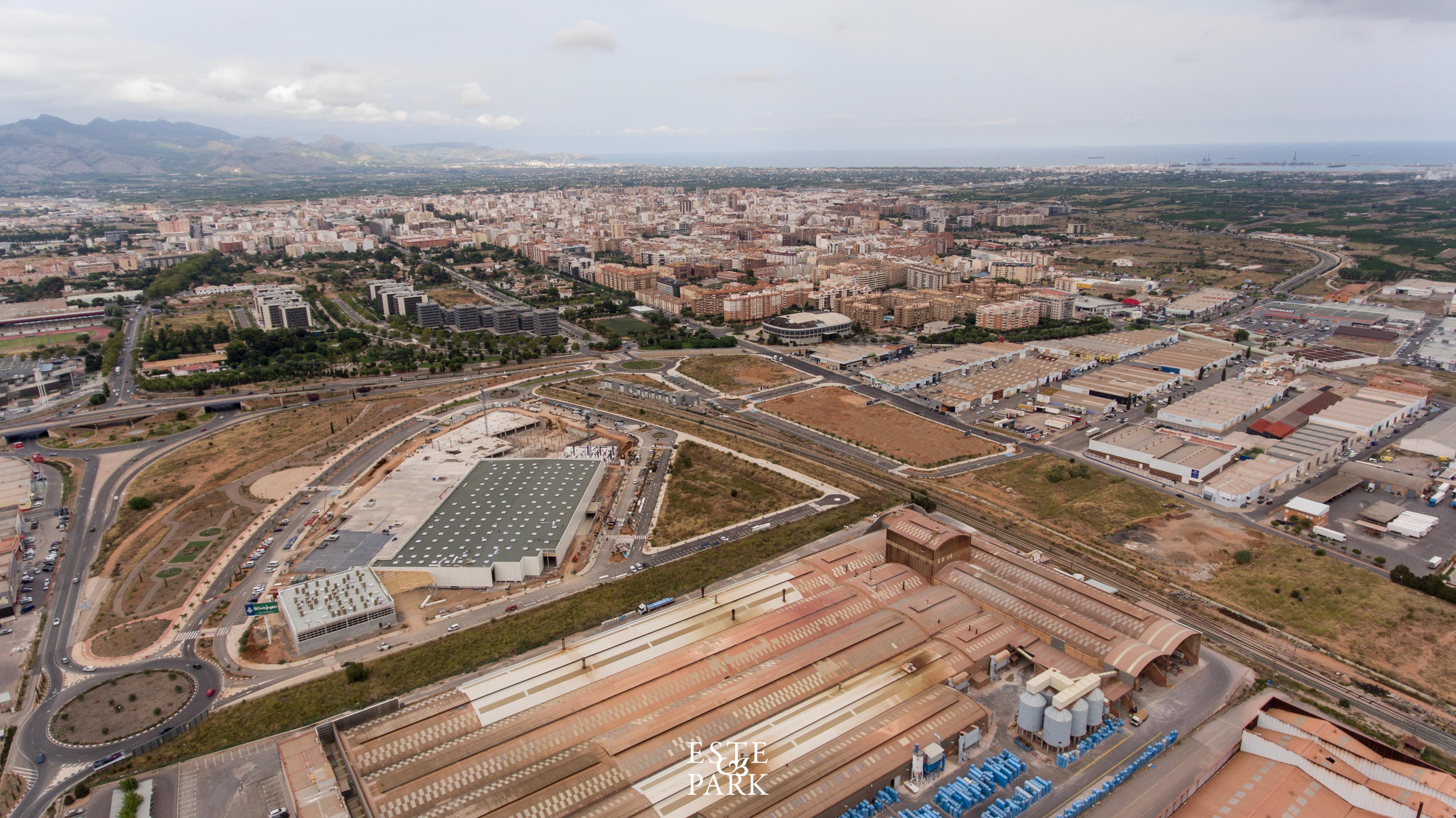 Imágenes aéreas del proyecto Estepark