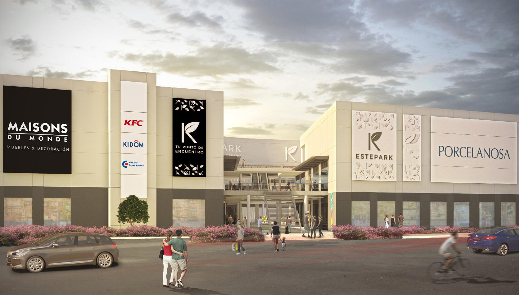 21 de noviembre APERTURA de la Plaza Estepark, eje central del centro comercial y de ocio ESTEPARK.