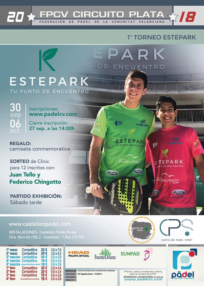 Presentación del I Torneo Estepark de pádel