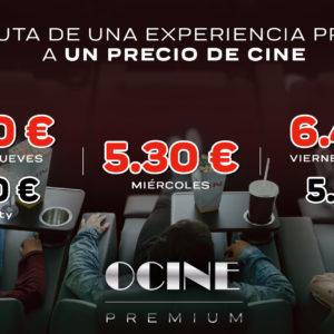 Nuevos precios en Ocine Premium Estepark