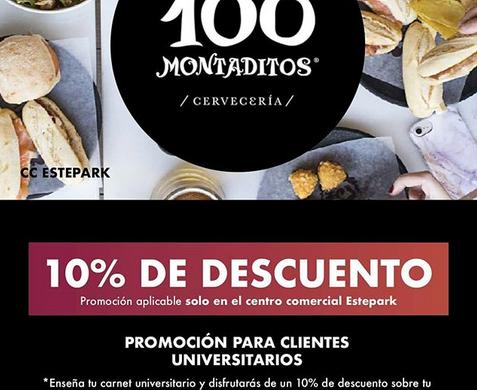 Promo para universitarios en 100 Montaditos