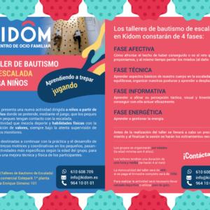 Clases de iniciación a la escalada en Kidôm