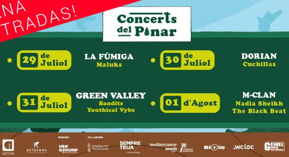 ¡GANA ENTRADAS PARA EL FESTIVAL CONCERTS DEL PINAR EN EL GRAO!